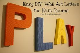 wall art ideas design play colorfull letter wall art unique easy