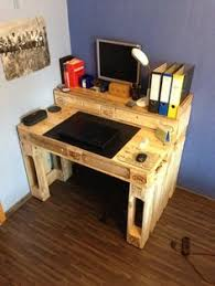Homemade Wood Computer Desk by Pallet Wood Computer Desk Our Projects Pinterest Wood