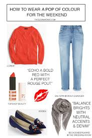 Colour Style by How To Wear A Pop Of Colour For Every Occasion