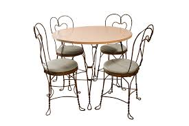 ice cream parlor table and chairs set vintage wrought iron ice cream parlor set