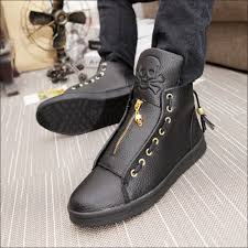 footwear for motorcycle qpq mens white black high top shoes 2017 spring fashion pu