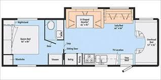 Rv 2 Bedroom Floor Plans Motorhome Rentals Southern California Travel Trailer Toy