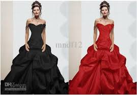 plus size red and black wedding dress prom dresses cheap
