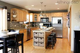 kitchen marvelous maple kitchen cabinets and blue wall color