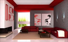 brilliant red living room decor with black white and red living