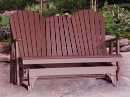 amish 5 u0027 patio poly adirondack glider bench