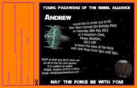 5th birthday party invitation star wars party invitations u2013 gangcraft net