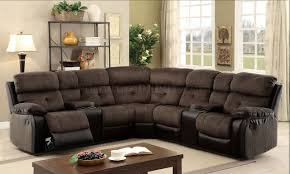 Colored Sectional Sofas by Hadley Ii Sectional Sofa Cm6871 W Recliners In Brown U0026 Espresso
