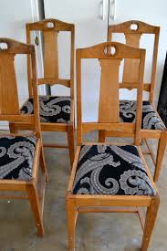How To Make Dining Room Chair Covers Diy Reupholstered Dining Chairs Little Bits Of
