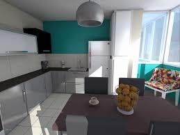 d o peinture cuisine cuisine bleu et taupe gris newsindo co