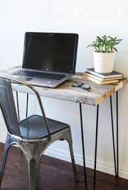 Remodelaholic How To Build A Desk With Wood Top And Metal Legs by Scrap Wood Side Table Free Diy Tutorial Wood Side Tables