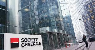 société générale siège la défense circa jan 2015 fast motion at societe generale