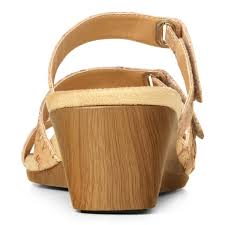 vionic park dwyn women u0027s wedge sandal gold cork