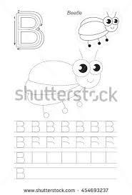 vector illustrated worksheet preschool children learn stock vector