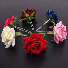 flower hair pins wholesale flower hair pins wedding bridal flowers women