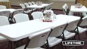 lifetime folding tables 4 lifetime white 4 folding 8 tables and 32 folding chairs package