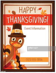 thanksgiving event poster vector getty images