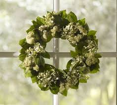 hydrangea wreath live willow hydrangea wreath pottery barn