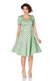 voodoo vixen hanna dress green retro 50 u0027s polka dot dress free