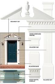 Exterior Door Pediment And Pilasters Fascinating Colonial Front Door Pediments Images Ideas House