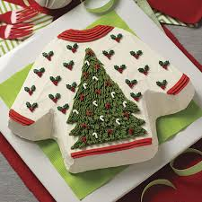 eggnog ugly sweater cake recipe wilton