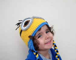 Minion Baby Halloween Costume Minion Hats Crochet Baby Yellow Minion Hat Halloween