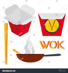 set asian chinese food logo design stock vector 441413014