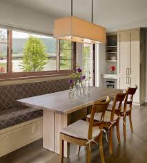Farmhouse Dining Room Lighting by Brilliant Kitchen Booth Seating With Glass Panel Table Dining