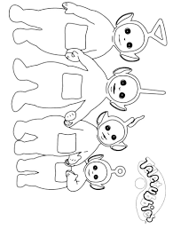 fresh ideas teletubbies outline printable coloring pages free