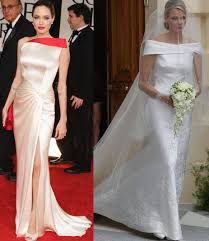 hairdo for boat neckline indian beauty central angelina jolie s wedding gown bridal