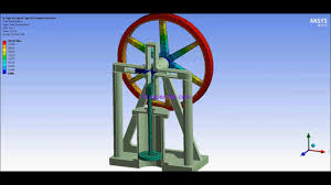 ansys wb finite element analysis one cylinder piston pump