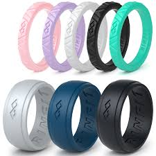 silicone wedding bands silicone wedding rings wedding bands for men and women 8 ring