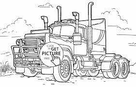big rig truck coloring page for kids transportation coloring