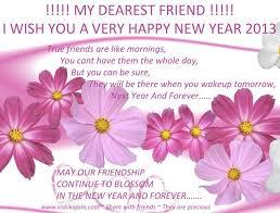 my dearest friend i wish you a happy new year