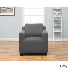 grey twill sofa slipcover home fashion designs dawson collection twill form fit chair