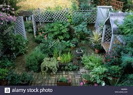 small town garden trellis mirror stock photos u0026 small town garden