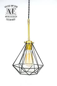 Bare Bulb Pendant Light Fixture Bare Bulb Pendant Light Fixture Triangular Black Cage With Pipe