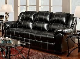 taos black bonded leather reclining sofa u0026 loveseat set 1000