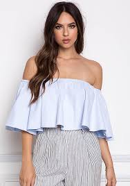 light blue off the shoulder top bellsleeves 70 s styles are considered by some as risky fashion