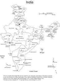 Map Of India With States by Outline Map Of India With States And Union Territories You Can