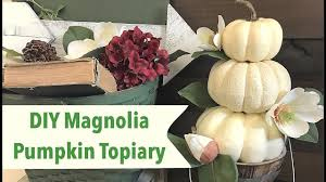 pumpkin topiary diy magnolia pumpkin topiary