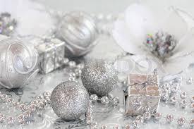 ornaments in silver and white tone stock photo colourbox