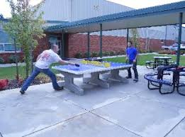 Outdoor Tennis Table Concrete Table Tennis Table In Plaza Outdoor Table