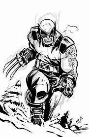 wolverine in the mountains warmup ink sketch eryck webb graphics