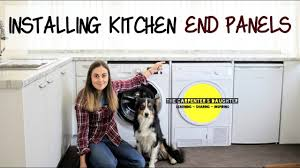 how to replace kitchen end panels installing kitchen end panels between appliances the carpenter s