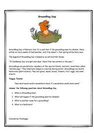 8 free esl groundhog day worksheets