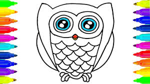 How To Draw Owl Coloring Pages Drawing Ideas For Kids And Owl Coloring Ideas