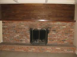 How To Update Brick Fireplace by How To Remodel This Ugly 1970s Fireplace Paneling Paint