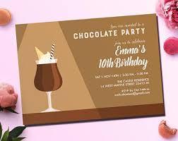 chocolate birthday party invitation card birthday