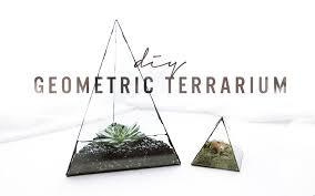 diy geometric glass terrarium the sorry girls youtube